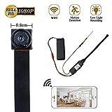 Mini Caméra LXMIMI 1080P Caméra Espion WiFi WiFi Caméra Mini Bouton Caméra Portable avec Détection de Mouvement