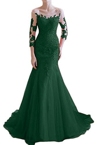 Victory Bridal - Robe - Crayon - Manches 3/4 - Femme Vert foncé