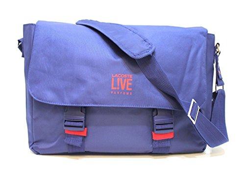 lacoste-live-parfums-azul-messenger-laptop-bolsa-de-transporte-nuevo