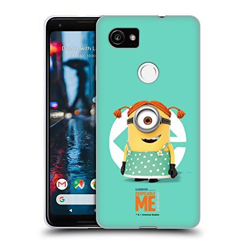 Head Case Designs Offizielle Despicable Me Stuart Maedchen Kostuem Minions Soft Gel Huelle kompatibel mit Google Pixel 2 XL (Kostüm Me 2 Minion Mädchen Despicable)