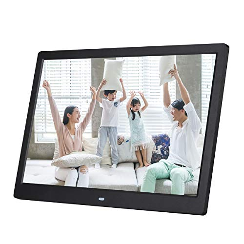14 Zoll Digital Photo Frame 1280 * 800 HD Ultra-Thin 14 ' ' LED Electronic Photo Album LCD Photo Frame Gift Compatible HDMI mit MP3 Music Video,Black - Frame Zoll Digital Photo 14