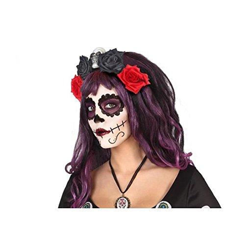 Atosa - Diadema FLores Roja Negra - AT 39968. - Halloween