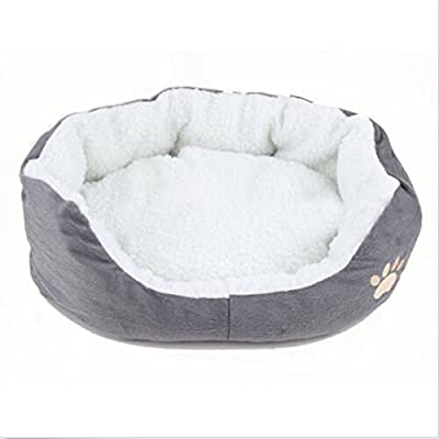 Round or Oval Shape Dimple Fleece Nesting Dog Cave Bed Pet Cat Bed for Cats and Small Dogs - low-cost UK light shop.