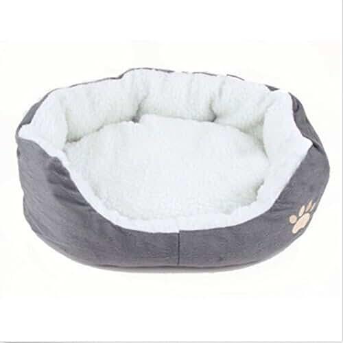 regalos kawaii gato Life-Mall Cama para Gatos y Perros tamaño:7.87*3.9*2.32 Gris,con Forro Redonda u Ovalada Amortiguador Suave Para Pequeña Mascota
