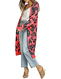 VJGOAL Moda Casual de Invierno de Invierno de Punto de impresión de Navidad de Manga Larga Chaqueta de Punto Camiseta suéter Capa