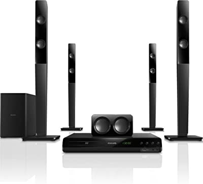 Philips HTD3570 - Sistema de audio 5.1 de 300 W (HDMI), negro [importado]