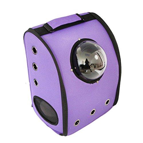 Imagen de hubulk innovador externa burbuja brújula hombro  pet portabebé para perros y gatos de viaje senderismo, violeta