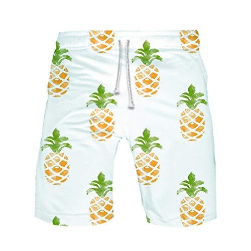 Sonnena Ananas drucken Badeshorts für Männer Badehose für Herren Jungen Schnelltrocknend Schwimmhose Casual Grosse grössen Strand Shorts