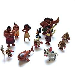 12pcs/Set 5-9 cm Princess Moana Toy Figure Set
