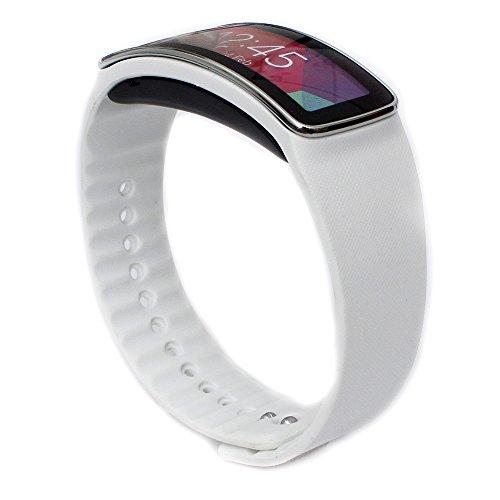 Woodln Ersatzband Armband Zubehör für Samsung Galaxy Gear fit R350 Smartwatch (White) - White-band-uhr