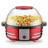 NBZLY Macchina per Popcorn, Antiaderente, ventilata, Confortevole, con Asta per agitazione, Produzione di Popcorn, pentola di Mais, Noci tostate, ECC.
