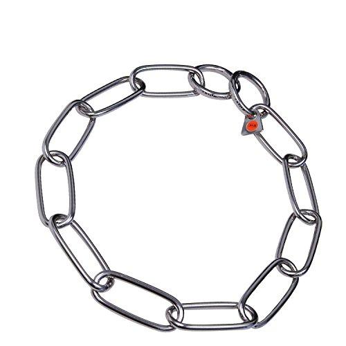 Artikelbild: Sprenger Kettenhalsband Langgliedkette mit 2 Ringen Edelstahl 4 mm für Hunde bis 85 kg (63 cm)