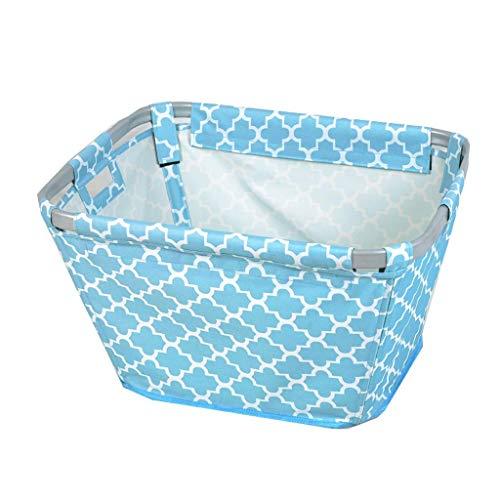 BMY Wäschekörbe Große Oxford Tuch Haushalt Wasserdicht Dirty Hamper Kleidung Kleinigkeiten Ablagekorb, 58 * 45 * 32 cm (Farbe: Blau)