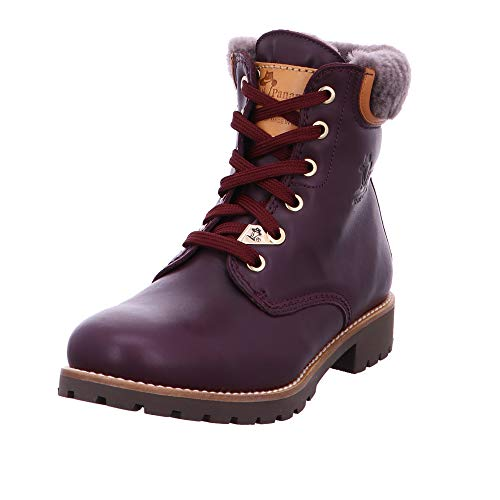 PANAMA JACK Damen Winterstiefel Panama 03 Igloo Travelling,Frauen Winter-Boots,Fellboots,Lammfellstiefel,Fellstiefel,gefüttert,warm,Zusätzlicher Baumwollbeutel enthalten,Bordeaux,EU 39