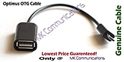 USB OTG On-The-Go Cable for Connecting USB Devices for Mobiles and Tablets (Color May Vary)