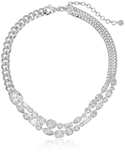 nicole-miller-mixed-cushion-collar-rhodium-clear-necklace