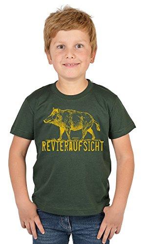 Jäger Sprüche Kinder T-Shirt / Jungen Jagd Bekleidung Shirt : Revieraufsicht -- Kinder Jäger T-Shirt Gr: XS