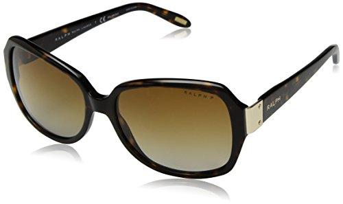 Ralph 0ra51380/t5, occhiali da sole donna, marrone (dark tortoise/browngradientpolarized), 58