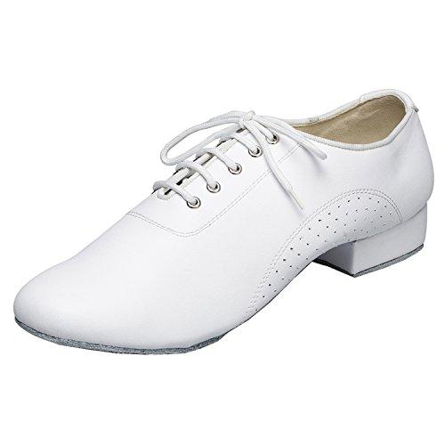 Minitoo da uomo th173Lace-up comoda Pelle Matrimonio Ballo Latina taogo Scarpe da ballo White
