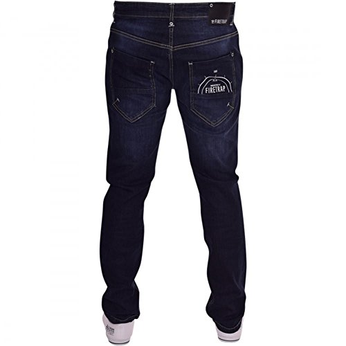 Firetrap Mens Designer Logo Straight Leg Slim Fit Denim Jeans