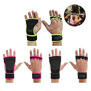 IrahdBowen Sport Handschuhe Fitness Handschuhe Männer Bodybuilding Power Handschuhe Abriebfeste Skid Sport Handschuhe Beständig Für Gewichtheben Cross Training Bike Exercise Gym