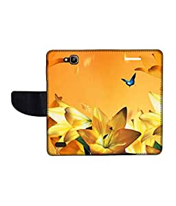 KolorEdge Printed Flip Cover For Huawei Honor Holly -Multicolor (50KeMLogo11112HonorHolly)
