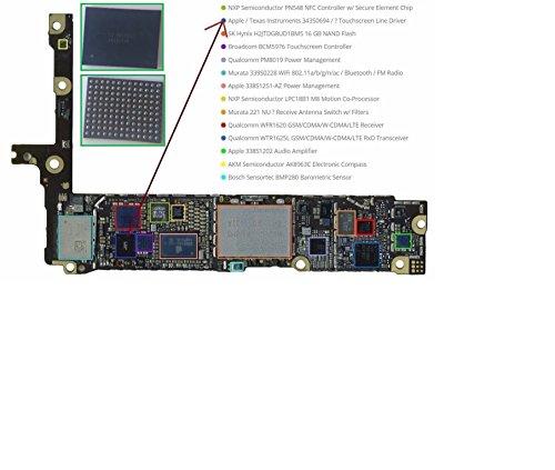 343s0694U2402Noir écran Tactile et numérique contrôleur Puce IC pour iPhone 6/iPhone 6Plus