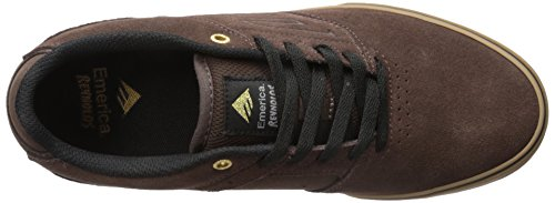 Emerica - Le Reynolds Low Vulc, Scarpe De Skateboard Da Uomo Brown / Gomme / Or