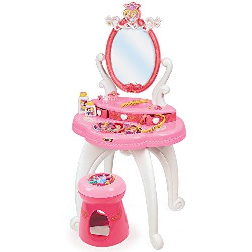 Disney Mit Schminktisch Spiegel (Disney Princess Schminktisch mit Hocker, drehbarem Spiegel und viel Zubehör • 94cm Kinder Frisier Tisch Kosmetik Spielzeug Salon)