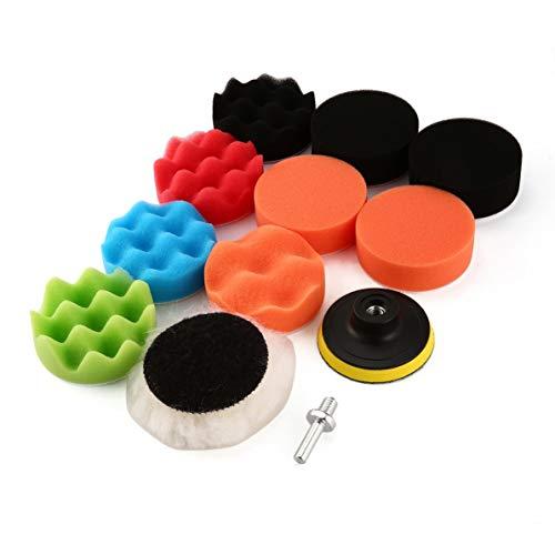 Tragbare Polierscheiben für Satzsatz Schwamm- und Wollwellenpolier-Waxing-Polierscheiben-Kits mit Bohradapter