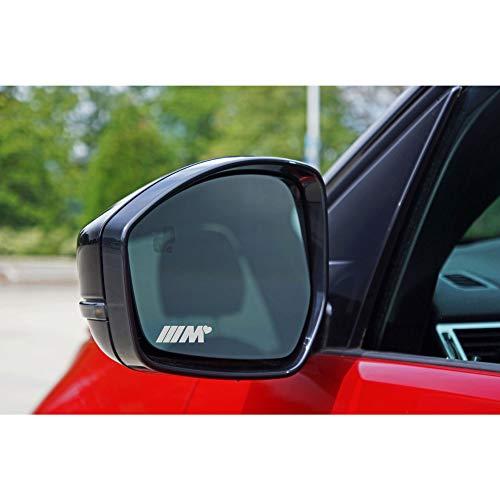 Autodomy Kompatibel mit BMW M Herz Aufkleber Paket 6 Stück aus saurem Vinyl für Autospiegel