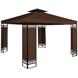 4 finestre MCTECH/® 3 x 6 m Blu Tenda Esterno Tenda da Giardino Padiglione Tenda Birra Tenda Gazebo Copertura PE impermeabilecon 6 pareti Laterali 2 Porte con Cerniera