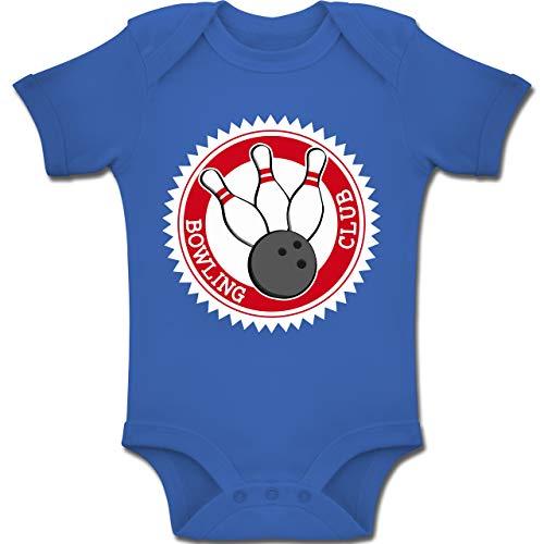 Sport Baby - Bowling Club Badge Abzeichen - 6-12 Monate - Royalblau - BZ10 - Baby Body Kurzarm Jungen Mädchen