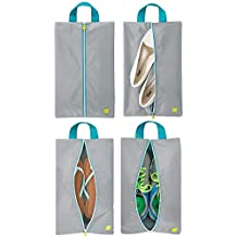 gris//turquesa//blanco Adecuada tambi/én como bolso de deporte Ligera maleta de cabina con cremallera y asas mDesign Bolsa de viaje ideal como equipaje de mano para viajar en avi/ón
