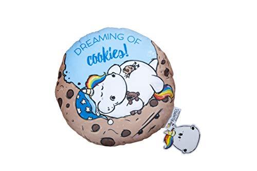 Pummeleinhorn Shaped Kissen mit Wendemotiv - Cookie (blau/kekstastisch) - 30 cm