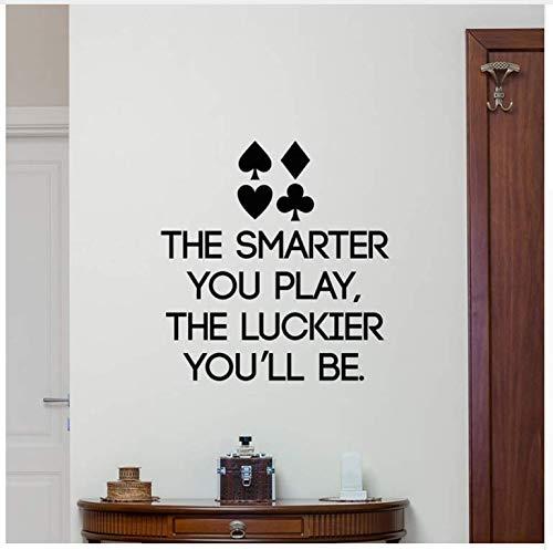 Ccfqiangtie Poker Quote Wandtattoo Schriftzug Spielen Vinyl AufkleberKunst DekorWandkunstWandbild Für Casino Dekoration Wohnkultur 42 * 44 Cm