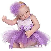 Abiredbud 10.23 Pulgadas Simulación Bebé Reborn Doll Girl Alto Grado Completo de Silicona con Vestido de