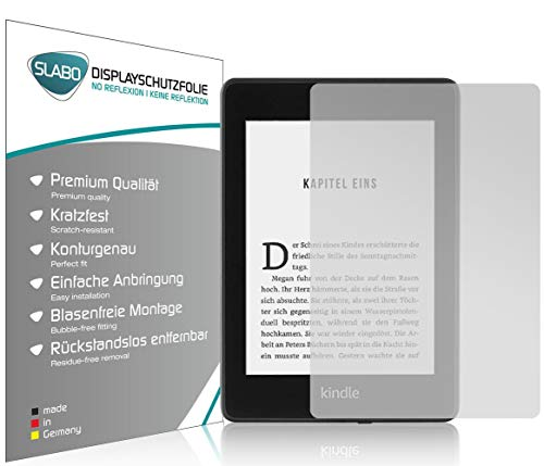 Slabo 2 x Displayschutzfolie für Kindle Paperwhite 2018 (10. Generation) Displayschutz Schutzfolie Folie No Reflexion|Keine Reflektion MATT - Entspiegelnd Made IN Germany