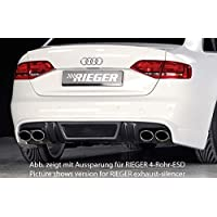 Rieger Trasero Enfoque Aspecto de Carbono para Audi A4 (B8/B81): 11.07