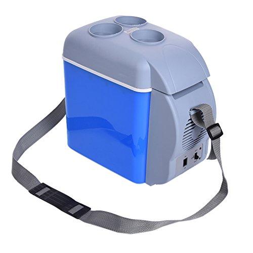 Preisvergleich Produktbild 7,5 L Portable Mini Auto Kühlschrank heißen und kalten Kühlschrank doppelte Fahrzeugnutzung für Auto und Haus Auto Kühler Gefrierschrank wärmer Kaigeli888