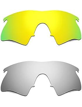 Hkuco Plus Mens Replacement Lenses For Oakley M Frame Heater 24K Gold/Titanium Sunglasses