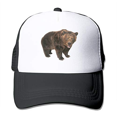 BetterShopDay Mesh Hat Montana Symbolic Grizzly Bear Adjustable Summer Trucker Visor Cotton Baseball Cap for Men Women (Hut Mad Hatter Womens)