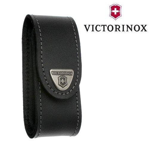 Victorinox-Schutzhülle aus Leder, schwarz, Victorinox a Clip drehbar-Set für Offiziersmesser 91 mm