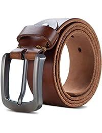 Lychee Herren Ledergürtel Anti-Scratch Schnalle 100% italienischen Ledergürtel  Gürtel Belt  38mm breit, kürzbar… 4c451e435a
