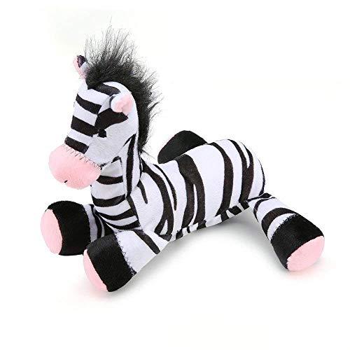 Pro Goleem Quietschspielzeug für Hunde, robust, Weiches Plüsch-Spielzeug, Fantastische Hits Zebra-Spielzeug für Haustiere (Zebra-plüsch-spielzeug)