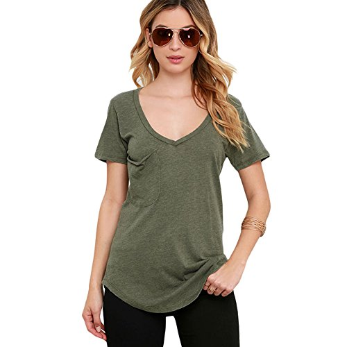 meinice estate Basic tasca maglietta ArmyGreen X-Large