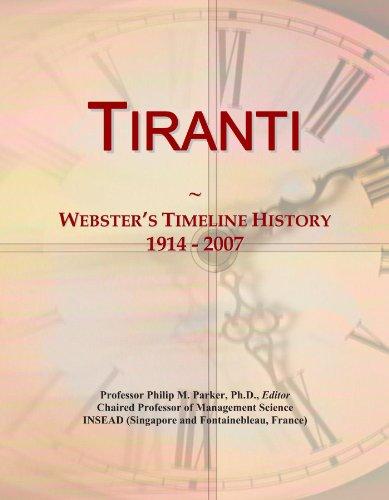 Tiranti: Webster's Timeline History, 1914 - 2007