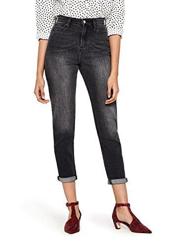 find. NEWSTW049 high waist jeans, Schwarz (Washed Black), W34/L32 (Herstellergröße: 42) -