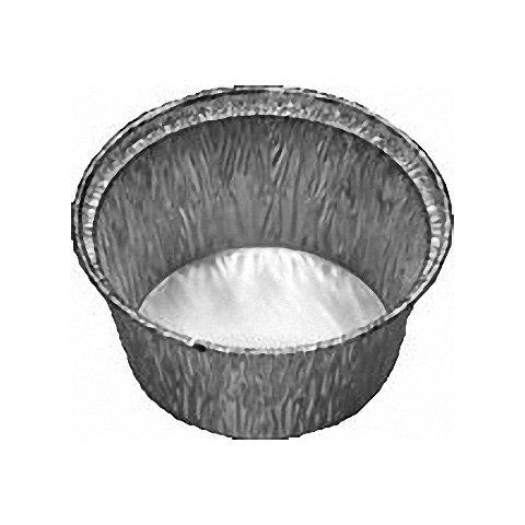 100 Stk. ALU Grill-, Back- und Servierschale rund, 110 ml, 80x34mm / Hervorragend zum Grillen, Backen und Servieren!