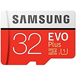 Samsung EVO Plus Grade 1, Class 10 32GB MicroSDHC 95 MB/S Memory Card with SD Adapter (MB-MC32GA/IN)